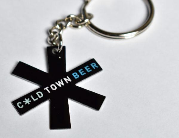 Cold Town Beer Keyring