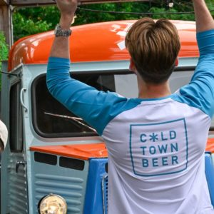 Cold Town Beer Scotland Raglan Blue Shirt